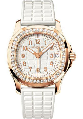 Patek Philippe 35.6mm Ladies Aquanaut Watch White Dial 5068R - Luxury Time NYC INC
