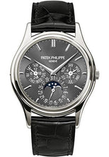 Load image into Gallery viewer, Patek Philippe 37.2mm Grand Complications Perpetual Calendar Moon Phase Watch Gray Dial 5140P - Luxury Time NYC INC