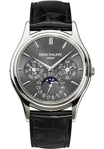 Patek Philippe 37.2mm Grand Complications Perpetual Calendar Moon Phase Watch Gray Dial 5140P - Luxury Time NYC INC