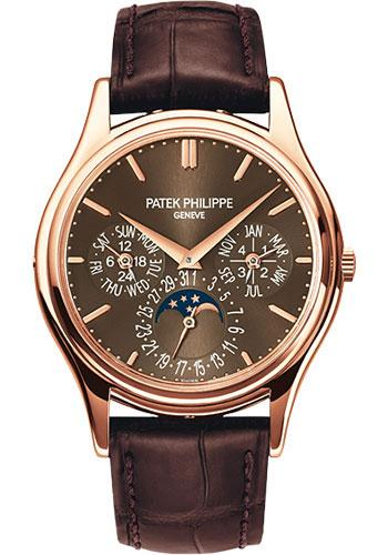 Patek Philippe 37.2mm Perpetual Calendar Moonphase Grand Complication Watch Brown Dial 5140R - Luxury Time NYC INC