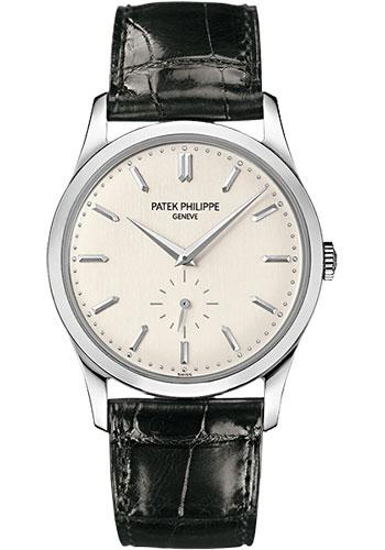 Patek Philippe 37mm Calatrava Watch Gray Dial 5196G - Luxury Time NYC INC