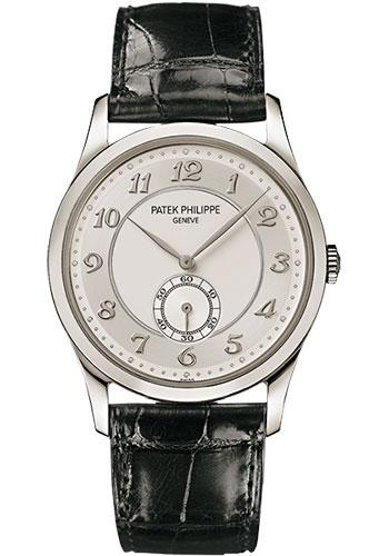 Patek Philippe 37mm Calatrava Watch Gray Dial 5196P - Luxury Time NYC INC