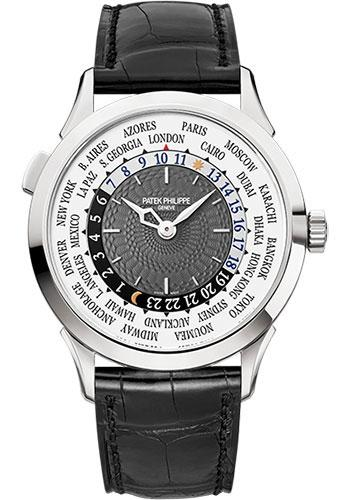 Patek Philippe 38.5mm World Time Complicated Watch Gray Dial 5230G - Luxury Time NYC INC