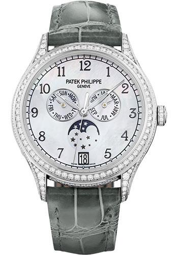 Patek Philippe 38mm Ladies Annual Calendar Complications Watch White Dial 4948G - Luxury Time NYC INC