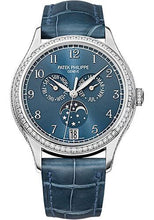 Load image into Gallery viewer, Patek Philippe 38mm Ladies Complications Annual Calender Watch Blue Dial 4947G - Luxury Time NYC INC