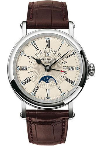 Patek Philippe 38mm Perpetual Calendar Moonphase Grand Complication Watch C Dial 5159G - Luxury Time NYC INC
