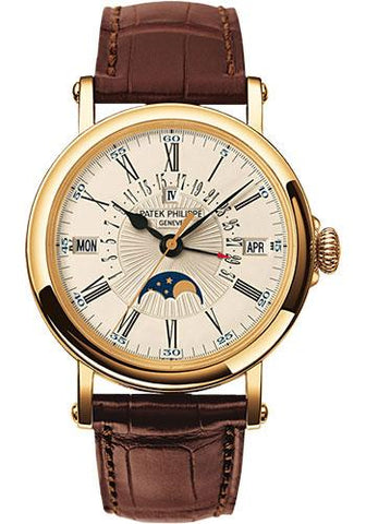 Patek Philippe 38mm Perpetual Calendar Moonphase Grand Complication Watch C Dial 5159J - Luxury Time NYC INC