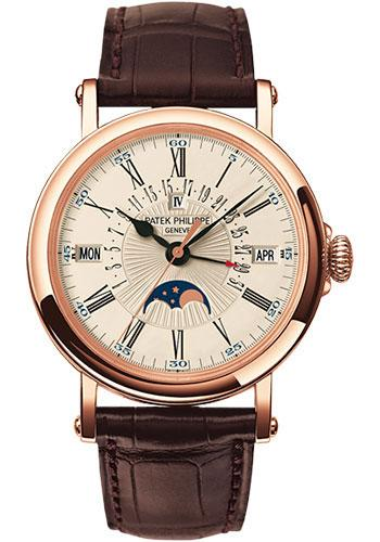 Patek Philippe 38mm Perpetual Calendar Moonphase Grand Complication Watch C Dial 5159R - Luxury Time NYC INC