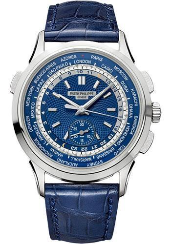 Patek Philippe 39.50mm Men Complications World Time Chronograph Watch Blue Dial 5930G - Luxury Time NYC INC