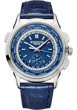 Load image into Gallery viewer, Patek Philippe 39.50mm Men Complications World Time Chronograph Watch Blue Dial 5930G - Luxury Time NYC INC