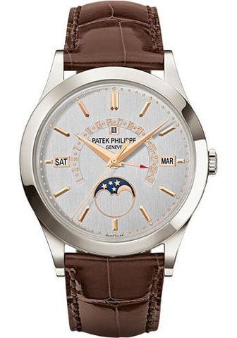 Patek Philippe 39.5mm Men Grand Complications Watch Silver Dial 5496P - Luxury Time NYC INC