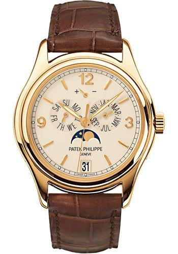 Patek Philippe 39mm Annual Calendar Compicated Watch Cream Dial 5146J - Luxury Time NYC INC