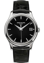 Load image into Gallery viewer, Patek Philippe 39mm Calatrava Watch Black Dial 5227G - Luxury Time NYC INC