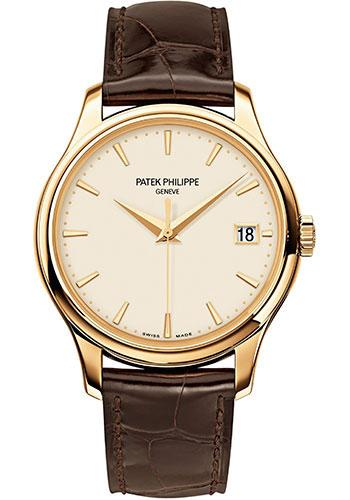 Patek Philippe 39mm Calatrava Watch Ivory Dial 5227J - Luxury Time NYC INC