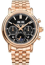 Load image into Gallery viewer, Patek Philippe 40.2mm Grand Complications Split Seconds Chronograph Pertetual Calendar Watch Black Dial 5204/1R - Luxury Time NYC INC