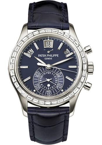 Patek Philippe 40.5mm Annual Calendar Chronograph Complications Watch Blue Dial 5961P - Luxury Time NYC INC