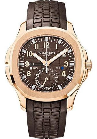 Patek Philippe 40.8mm Mens Aquanaut Travel Time Watch Brown Dial 5164R - Luxury Time NYC INC
