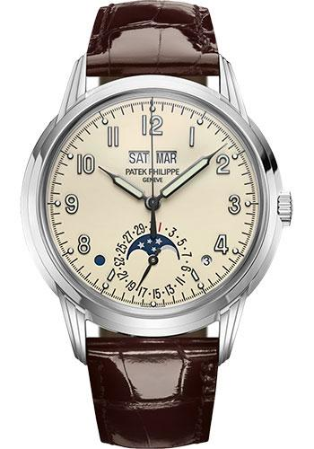 Patek Philippe 40mm Grand Complications Perpetual Calendar - White Gold - Lacquered Cream Dial C Dial 5320G - Luxury Time NYC INC