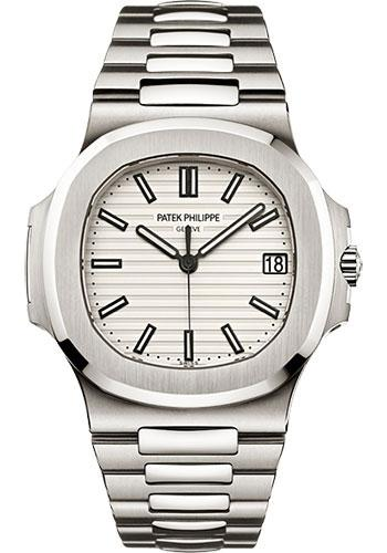 Patek Philippe 40mm Men Nautilus Watch White Dial 5711/1A - Luxury Time NYC INC