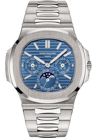 Patek Philippe 40mm Nautilus Grand Complication Perpetual Calendar Watch Blue Dial 5740/1G - Luxury Time NYC INC