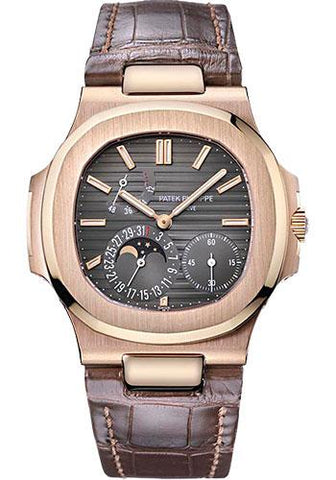 Patek Philippe 40mm Nautilus Watch Black Dial 5712R - Luxury Time NYC INC