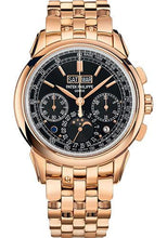 Load image into Gallery viewer, Patek Philippe 41mm Grand Complications Chronograph Perpetual Calendar - Rose Gold - Ebony Black Sunburst Dial Black Dial 5270/1R - Luxury Time NYC INC