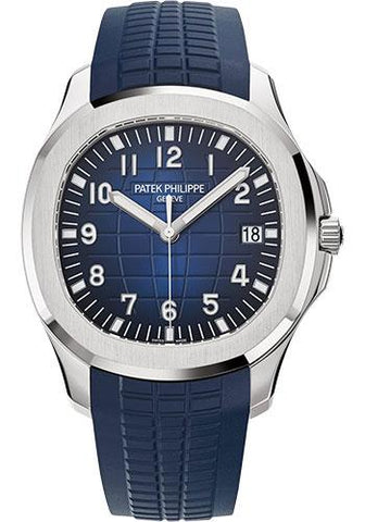 Patek Philippe 42.2mm Men's Aquanaut Watch Blue Dial 5168G - Luxury Time NYC INC