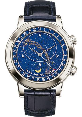 Patek Philippe 44mm Grand Complication Celestial Moon Age Watch Black Dial 6102P - Luxury Time NYC INC