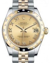 Load image into Gallery viewer, Rolex Datejust 31 Lady Midsize Yellow Gold/Steel Champagne Roman Dial & Diamond Set Domed Bezel Jubilee Bracelet 178343