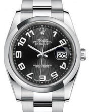 Load image into Gallery viewer, Rolex Datejust 36 Stainless Steel Black Concentric Circle Arabic Dial & Smooth Domed Bezel Oyster Bracelet 116200 - Luxury Time NYC INC