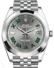 Load image into Gallery viewer, Rolex Datejust 41 Stainless Steel Slate Roman Dial Smooth Bezel Jubilee Bracelet 126300