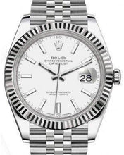 Load image into Gallery viewer, Rolex Datejust 41 White Gold/Steel White Index Dial Fluted Bezel Jubilee Bracelet 126334