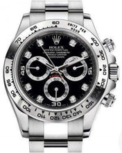 Load image into Gallery viewer, Rolex Daytona White Gold Black Diamond Dial White Gold Bezel Oyster Bracelet 116509
