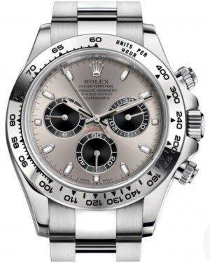 Rolex Daytona White Gold Steel/Silver Index Dial White Gold Bezel Oyster Bracelet 116509 - Luxury Time NYC INC
