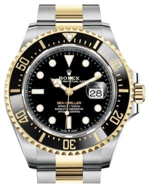 Rolex Sea-Dweller 43mm Case Yellow Gold/Steel Black Luminous Dial & Ceramic Bezel Oyster Bracelet 126603 - Luxury Time NYC INC