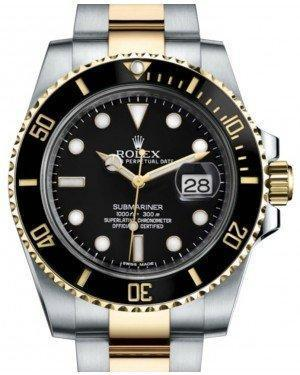 Rolex Submariner Date Yellow Gold/Steel Black Dial & Ceramic Bezel Oyster Bracelet 116613LN - Luxury Time NYC INC
