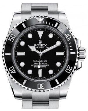 Rolex Submariner No Date Stainless Steel Black Dial & Ceramic Bezel Oyster Bracelet 114060 - Luxury Time NYC INC