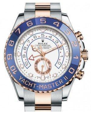 Rolex Yacht-Master II 116681 Blue Ceramic 18k Rose Gold Mercedes Hands Stainless Steel - Luxury Time NYC INC