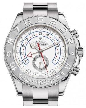 Rolex Yacht-Master II White Gold White Dial 44mm Platinum Bezel 116689 - Luxury Time NYC INC