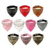 Unique Leather dog Collar With Spikes & a Bandana Suitable for All Dog Sizes