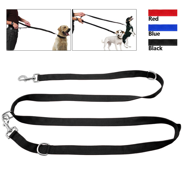 Multi-functional Dog Tranning Leash Adjustable for Long or Short & Double Lead Leashes