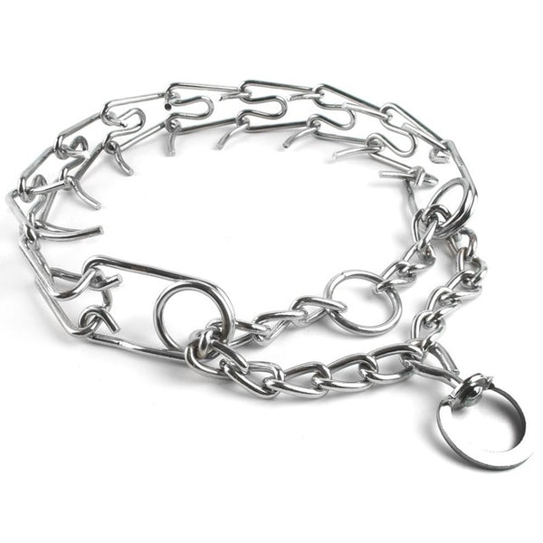 Training Metal Chain Dog Collar
