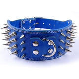 A Leather Dog Color, Spiked & Studded for Medium & Large Dogs