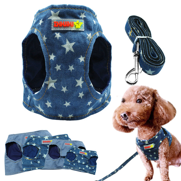 A Dog Harness Vest And Leash Set For Cats & Small Dogs