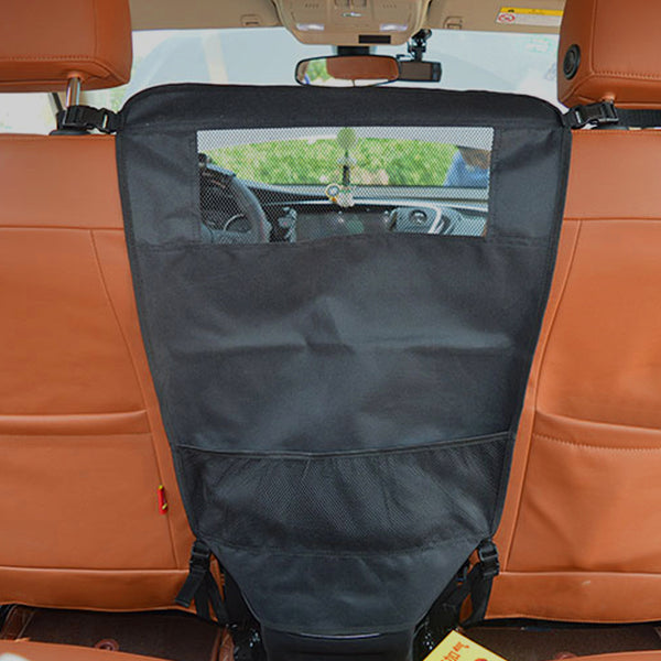 A Dog Car Seat Cover with a Safety Isolation Net