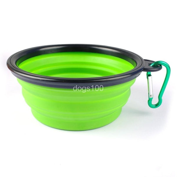 A Folding Silicone Food Bowl for Cats and Small Dogs