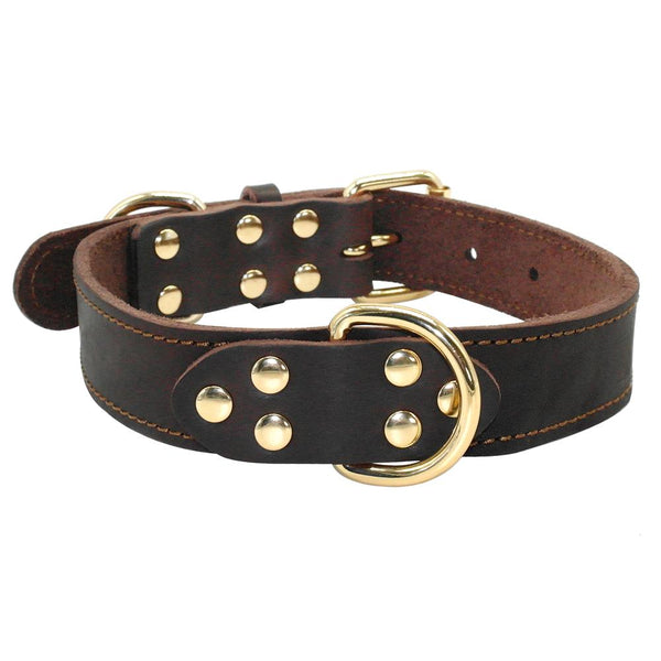 New Genuine Leather Dog Collar for Medium and Large Dogs