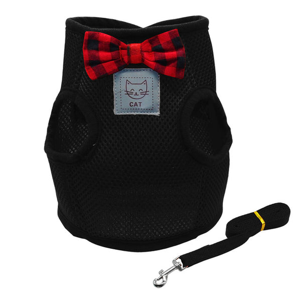 A Breathable, Pet Harness Vest and Leash Set for Small Dogs & Cats