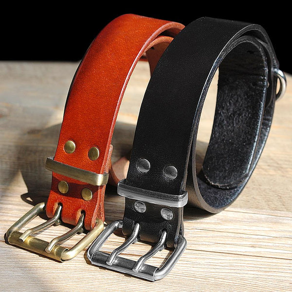 Best Genuine Leather Dog Collar For All Size Dogs with Durable D Ring & Buckle