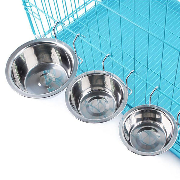 A Quality Stainless Steel Bowl that Can be Hung. For a Small to Medium Dog or a Cat